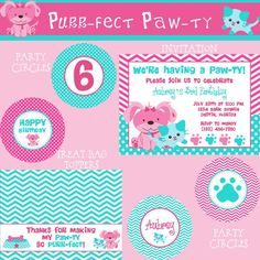 Purrfect Pawty Dog & Cat Birthday Party Package  by PartySoPerfect, $15.00