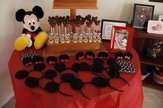 DIY Mickey Mouse headbands & Minnie ear clips along with Mickey cake pops