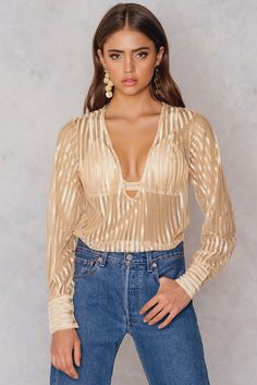 613a1ff5807 TOBY HEART GINGER ACE HOTEL BLOUSE - BEIGE