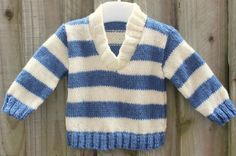 Hand Knitted Baby Jumper 0-3 Months £15.00