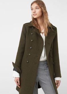 Cappotto stile militare lana - Cappotti da Donna  93fcb863d9b