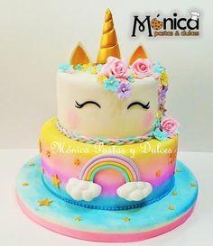 Unicorn Birthday Parties, Unicorn Party, Birthday Cake, Diy Unicorn Headband, Unicorn Cake Pops, Disney Cakes, Yummy Snacks, Amazing Cakes, First Birthdays