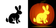 Rabbit Pumpkin Stencil