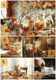 Thanksgiving centerpieces / Thanksgiving table designs!