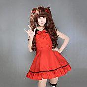 Sleeveless Knee-length Red Cotton Sweet Lolit... – USD $ 57.99