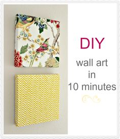 DIY wall art in 10 minutes using napkins. Great Idea for the cloth napkins I see at garage sale.