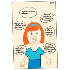 Students explore similes with this quick-to-prepare activity.  Materials:  drawing paper (one sheet per child) crayons or colored pencils A student draws a self-portrait in the center of her paper. Next, she adds a web that extends from her illustration as shown. In each circle of the web, she writes a self-descriptive sentence that contains a simile.