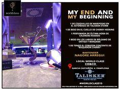 My end and my beginning: Receta presentada por Nagore Arregui para la competición de coctelería #WorldClass2015 con Talisker Scotch Whisky. Podrás probarla en calle García Castañón, Pamplona