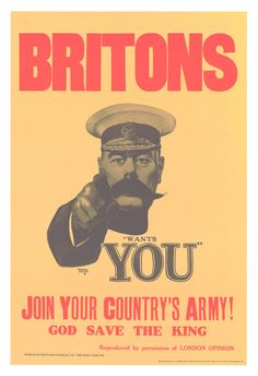 Recruiting Poster Showing Lord Kitchener, United Kingdom, 1915 Ww1 Posters, Political Posters, Patriotic Posters, Army Recruitment, Peace Poster, War Image, World War Two, Case Study, First World