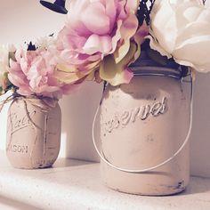customer orders in beige  My painted Mason jar vases