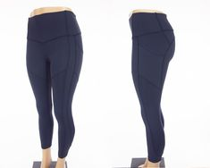 LULULEMON All The Right Places Crop 6 S Blue Compression Pant Run Yoga #Lululemon #PantsTightsLeggings