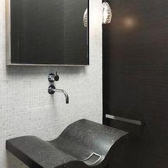 The Art Gallery Hickman Design Associates bathrooms modern powder room powder room white and black
