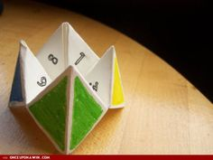 Creative prayer idea: oragami game thing