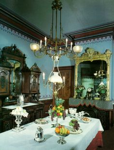 Image detail for -Victorian Dining Room – Our formal entry hall with its grand . Victorian Style Decor, Victorian Rooms, Victorian Parlor, Baroque Decor, Victorian Interiors, Victorian Design, Victorian Furniture, Vintage Interiors, Victorian Fashion