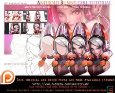 Android Bunny tutorial pack .promo. by sakimichan.deviantart.com on @DeviantArt