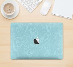 """The Subtle Blue Floral Laced Skin Kit for the 12"""" Apple MacBook"""