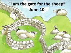 """PPT - """"I am the gate for the sheep"""" John 10 PowerPoint Presentation - Jesus Crafts, Bible Crafts, Crafts For Kids, Door Crafts, Church Crafts, Lessons For Kids, Bible Lessons, I Am The Door, Stair Gate"""