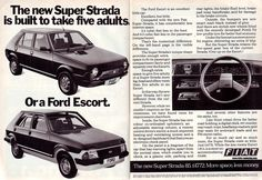 Fiat Strada head-on with Ford Escort