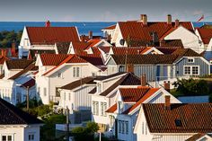 The White Town on the Skagerrak Sunday Morning, Small Towns, Norway, Fairy Tales, Multi Story Building, Europe, Mansions, House Styles, Image