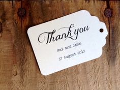 Custom Wedding Thank You Tags  Rustic Chic  by sealstagsandstuff, $10.00