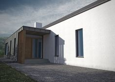 - Marshall McCann Architects NI Northern Ireland, info Passive hou… – Marshall M - Modern Bungalow House Plans, Metal House Plans, Farmhouse Architecture, Vernacular Architecture, Square House Plans, House Plans South Africa, House Cladding, Contemporary Cottage, Passive House