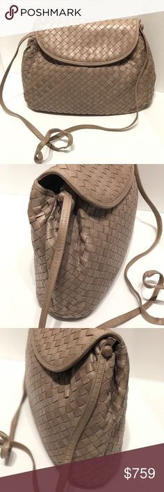 """Authentic Bottega Veneta Leather Crossbody Stylish and lightweight Bottega Veneta Crossbody with a soft leather.   It is simple and perfect for a casual day out.  It is in great condition.  All items are authenticated before they are put online or in our store.  Serendipity has been in business for 23 years bringing luxury bags, shoes and accessories to Boca Raton, FL.  We ship within 1 business day on orders made before 4pm EST.  Strap measures 21.5"""" Bottega Veneta Bags Crossbody Bags"""