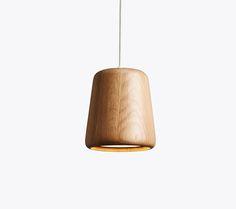 Material Pendant, Natural Oak, Design by Nørgaard & Kechayas http://www.newworks.dk/