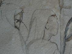 CHASSERIAU Théodore,1846 - Arabe barbu et autres Figures - drawing - Détail 10