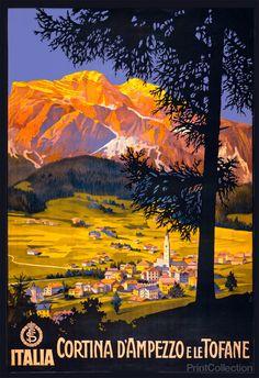 Cortina d'Ampezzo e le Tofane, Dolomites, province of Belluno, Veneto, Northern Italy