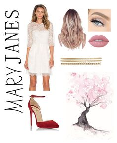 """Sweet Mary Janes"" by native-born ❤ liked on Polyvore featuring Ganni, Christian Louboutin, Jessica Carlyle and Lime Crime"