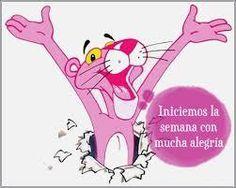 Iniciemos la semana con mucha alegría... La felicidad es una decisión que cada uno toma.  #felicidad #inicio #semana #pantera #rosa #felizlunes