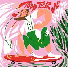 Album art collaboration / Norwegian duo DJ Todd Terje and artist Bendik Kaltenborn