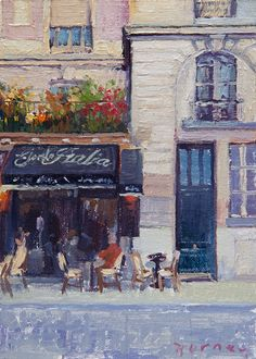So wish I could own one of the Little Paris Paintings by Paul Ferney!