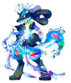 Tags: Fanart, Pokémon, Pixiv, Lucario, PNG Conversion, Fanart From Pixiv, Bottle Design, Pixiv Id 8196481