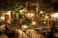 A gorgeous view of Provencal from the top fountains, a great place for your head table.  The Wright House - Mesa, AZ