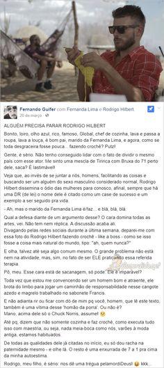 Reclamação sobre Rodrigo Hilbert - HumordidoHumordido
