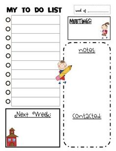 Ooh what about making a version of this for the kids to teach them to be organized and plan