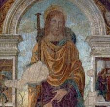 San Rocco di Geta  Particolare dell'Affresco del XVI sec. - Palazzo De Vio, Gaeta