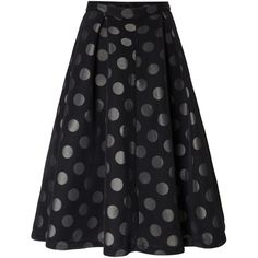Lost Ink Polka Dot High Waisted Skirt ($65) ❤ liked on Polyvore featuring skirts, black, women, high-waisted skirts, high-waist skirt, high waisted knee length skirt, polka dot midi skirt and dot skirt
