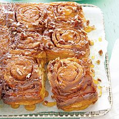 It's hard to resist the sweet smell of cinnamon buns—now you don't have to. Chopped pecans add richness and just the right amount of crunch to these sticky treats.   View Recipe: Caramel-Pecan Sticky Buns