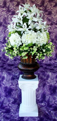SILK WEDDING FLOWERS Altar Wedding Decor Flowers Reception Table Centerpiece Church Floral Arrangement via Etsy