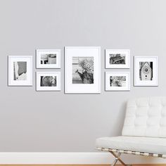Wall Frame Set White 7 New Picture Photo Gallery Solid Wood Frames Home Decor 745528863712 Frame Wall Collage, Frames On Wall, Picture Wall Collage, Collage Pictures, White Frames, Picture Wall Staircase, Collage Ideas, Picture Frame Arrangements, Deco House