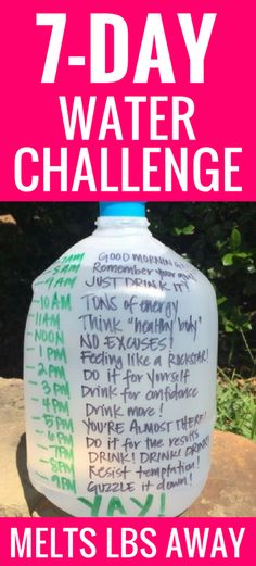 Brilliant water jug label or chart! Dr. Oz says it is the perfect way to make sure you drink a half gallon bottle of water every day!