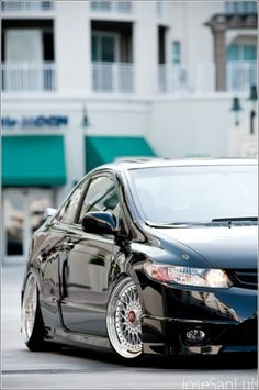 Hellaflush Honda Civic Si on BBS...  #Honda #HondaCivic #HondaCars #Rvinyl loves some #Slammmed Rides at www.Rvinyl.com