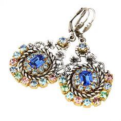 Darling Earrings - Sapphire/Mulitcolor