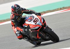 """Superpole - Sylvain #Guintoli aggressively took on his challengers in the top nine, succumbing only to the """"specialist"""" Sykes, even admitting that he made a few small mistakes in the fast lap."""