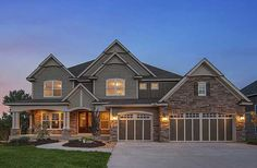 House Plan 73330HS. Craftsman exterior. Like this home with porch on back and main floor master.