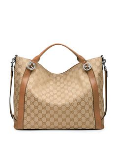 Miss GG Original Canvas Top Handle Bag, Brown by Gucci at Neiman Marcus.