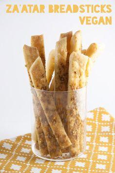 Vegan Za'atar BreadsticksReally nice recipes. Every hour.Show me  Mein Blog: Alles rund um die Themen Genuss & Geschmack  Kochen Backen Braten Vorspeisen Hauptgerichte und Desserts # Hashtag