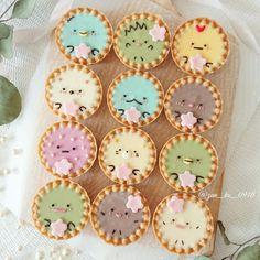 Really cute Sumikko gurashi Chocolate Tarts! I love San-x themed desserts! Pretty Cakes, Cute Cakes, Fun Baking Recipes, Sweet Recipes, Cute Baking, Kawaii Dessert, Cute Desserts, Exotic Food, Japanese Sweets